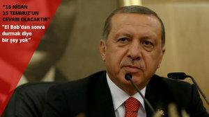 Erdoğan'dan El Bab açıklaması: Bundan sonrası an meselesi