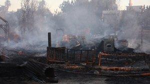 Adana'da tarım işçilerinin kaldığı çadırlar yandı