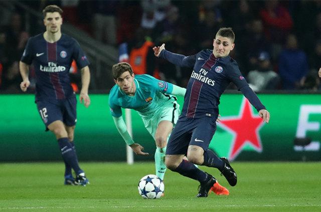 Şampiyonlar Ligi 2. tur sonuçları: PSG: 4 - Barcelona 0 / Benfica: 1 - Borussia Dortmund: 0