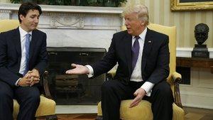 Donald Trump ve Justin Trudeau Beyaz Saray'da görüştü