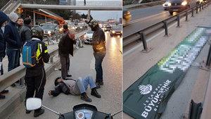 İstanbul Kozyatağı'nda feci motosiklet kazası
