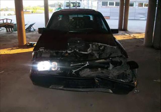Kaza yapan Mercedes'in inanılmaz değişimi