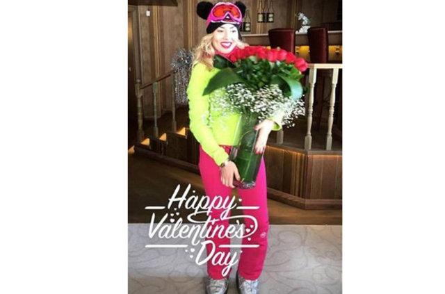 Ali Ağaoğlu, Duygu Su Gülpınar'la Sevgililer Günü'nü zirvede kutladı
