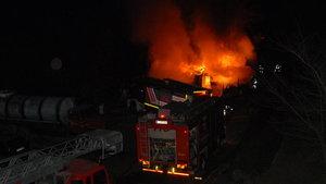 Kocaeli'de alabalık çiftliğinde yangın