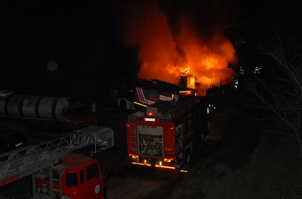 Kocaeli  alabalık çiftliği yangın