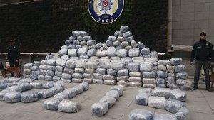 Kartal'da 1 ton uyuşturucu yakalandı