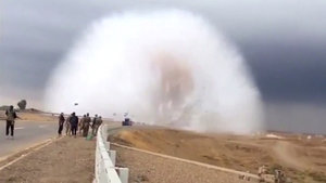 Irak'ta patlama sonrası 'Şok Dalgası' böyle görüntülendi