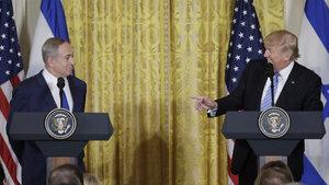 Donald Trump, Binyamin Netanyahu ile ilk kez bir arada