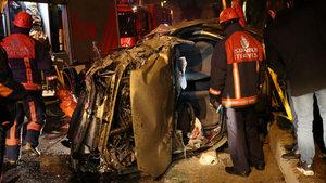 İstanbul Beşiktaş'ta otomobil takla attı: 1 yaralı
