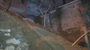 Şişli'de istinat duvarı çöktü! Mahalleli sokağa döküldü