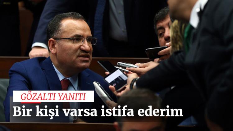 """Adalet Bakanı Bozdağ, referandumda """"hayır"""" dediği için gözaltına alınanın veya tutuklananın bulunmadığını belirterek """"Bir tane 'hayır' dediği için gözaltına alınmış varsa ben bugün, bu görevden ayrılırım. Yok öyle bir şey"""" dedi."""