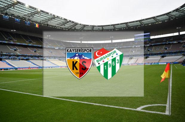 Kayserispor - Bursaspor maçı