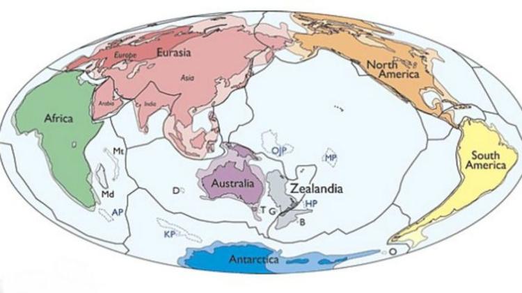 Pasifik Okyanusu'nun altında bulunan kara parçası dünyanın sekizinci kıtası olarak kabul edilebilecek.