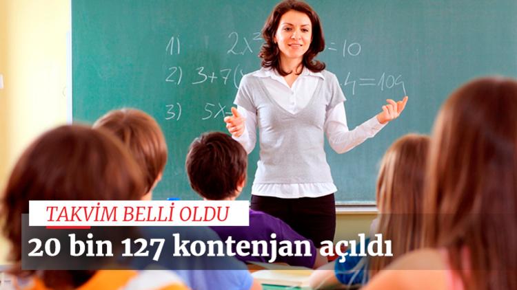 MEB sözleşmeli öğretmen atama takvimini açıkladı. Tam olarak 20 bin 127 öğretmen adayının atamasının yapılması planlanıyor.
