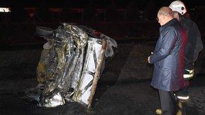 Çorlu'da feci kaza! Yanarak öldü
