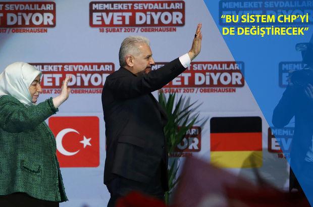 Başbakan Yıldırım Almanya'da vatandaşlara sesleniyor