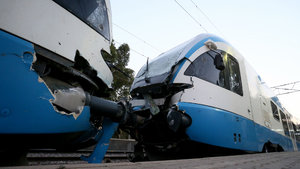 Belçika'da tren kazası