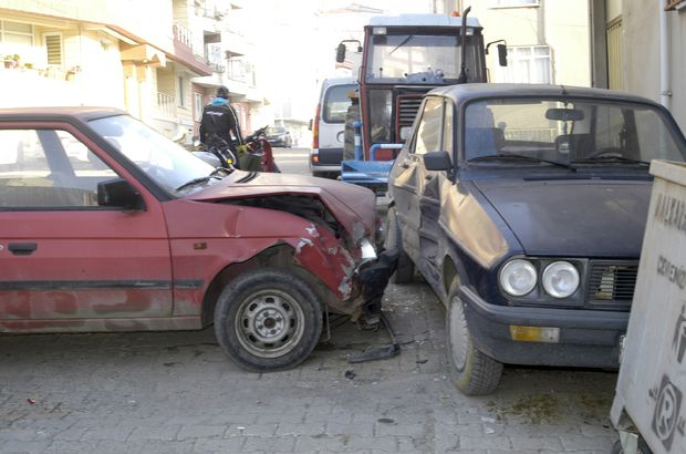 Tekirdağ'da freni patlayan araç 3 otomobili biçti