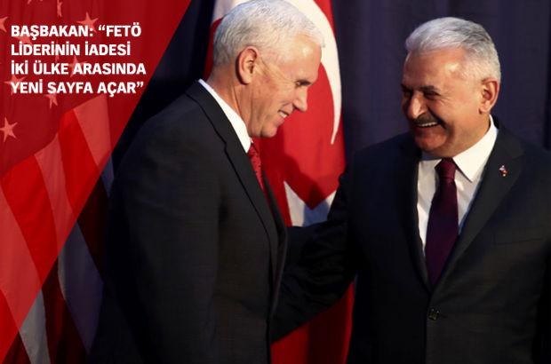Başbakan Yıldırım Pence ile görüştü