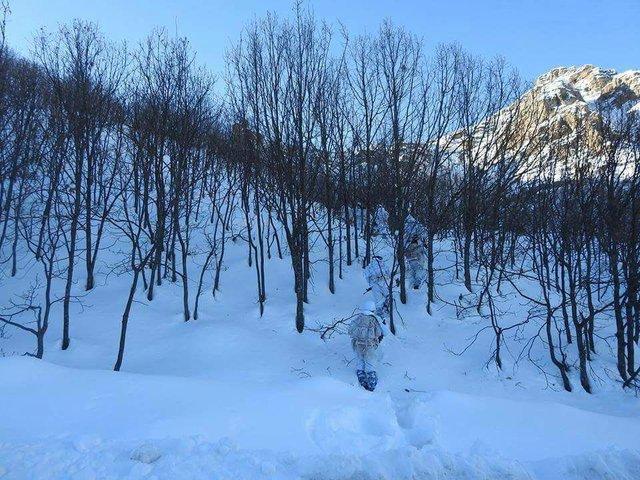 Tunceli'de -20 derece soğuk ve 3 metre karda operasyon
