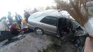 Muğla'da araç şarampole yuvarlandı: 2'si ağır 9 yaralı