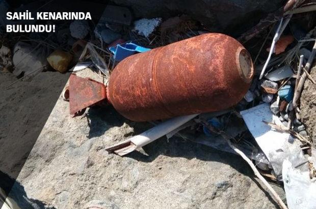 Samsun'da sahil kenarında patlamamış mühimmat bulundu