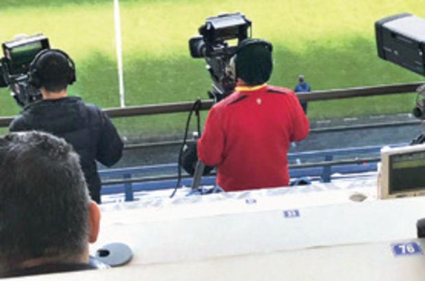 Ülker Stadı'nda kameramana tepki