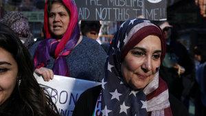 ABD sokağa indi: Bugün ben de Müslümanım
