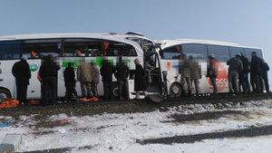 Iğdır'da otobüsler çarpıştı: 6 kişi öldü, 16 kişi yaralandı