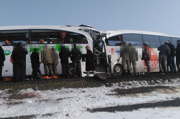 Otobüsler çarpıştı: 6 kişi öldü, 20 kişi yaralandı