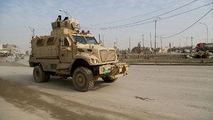Iraklı güçler Musul'un batısında ilerliyor
