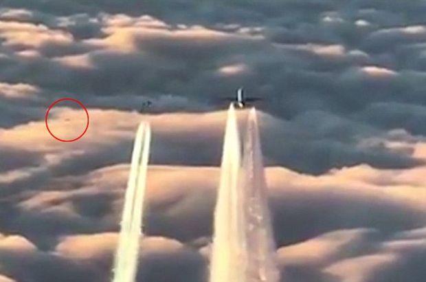Alman jetleri yolcu uçağının önünü kesti, arkadan cisim geçti!