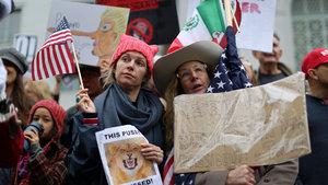 """Donald Trump'a """"Başkanlar Günü""""nde protesto"""