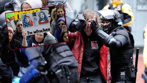 Binlerce kişi Trump'a karşı sokaklara döküldü
