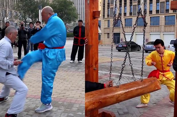 'Demir Kasıklı Kung Fu' ustası şov yaptı