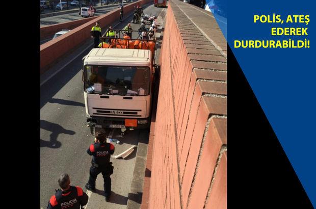 Barcelona'da kamyon çalan İsveçli otoyolda terör estirdi!
