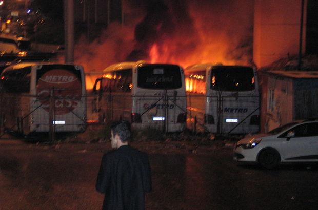 15 Temmuz Demorkasi Otogarı'nda yangın