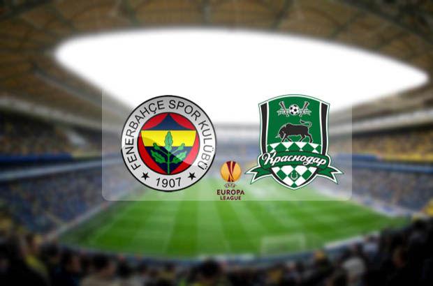 Fenerbahçe - Krasnodar maçı hangi kanalda, saat kaçta, ne zaman? Maç şifreli mi, şifresiz mi?