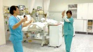 Antalya'da özel bir hastanede yoğun bakımda halay çekip, göbek attılar!