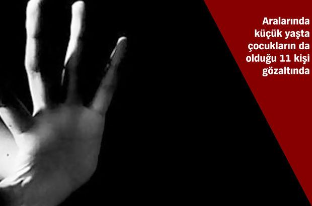 Kocaeli Başiskele'de 13 yaşındaki kıza uyuşturucu verip cinsel istismarda bulunan 11 kişi gözaltında