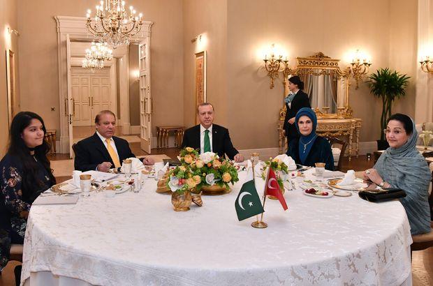 Cumhurbaşkanı Erdoğan, Pakistan Başbakanı ile buluştu