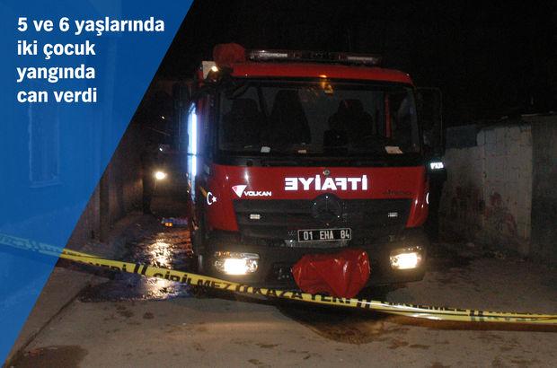 Adana'da ev yangınında 2 hayatını kaybetti