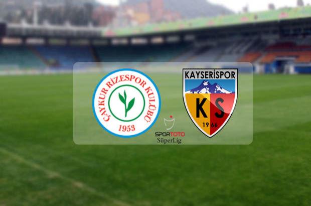 Çaykur Rizespor Kayserispor maçı ne zaman, saat kaçta, hangi kanalda? Spor Toto Süper Lig