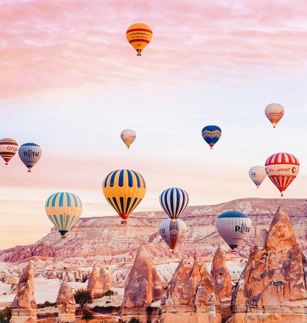 Tek bir rötuş bile barındırmayan fotoğraflarla Kapadokya!