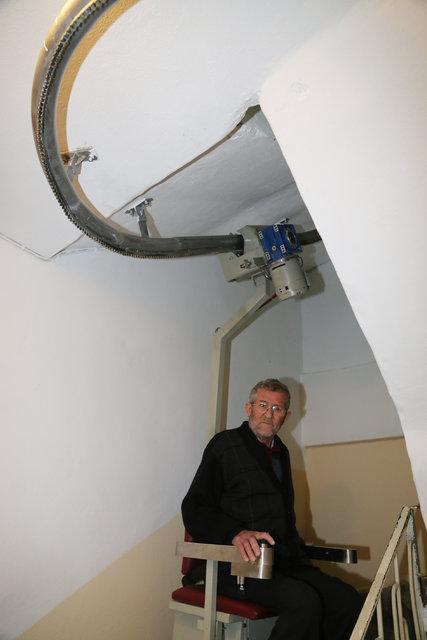 Ordu'da Engelli ve yaşlılar için merdiven asansörü üretildi