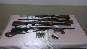 Ordu'da bir evde tabanca ve tüfek ele geçirildi