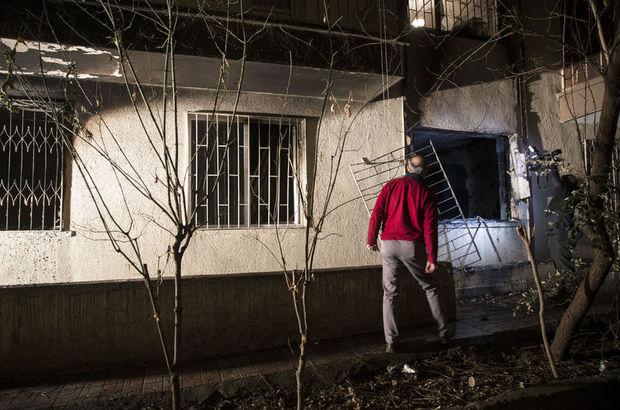 Ankara'da yangında yaralanan genç kadını vatandaşlar kurtardı