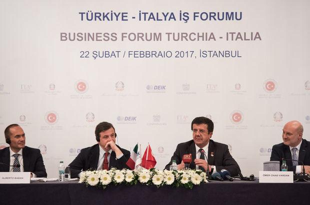 Bakan Zeybekci: İtalya ile dış ticaret hacmi 30 milyar dolara çıkabilir