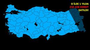 Türkiye'de en çok konut satılan iller