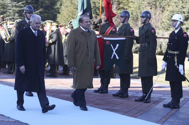 Pakistan Başbakanı Navaz Şerif, Ankara'da